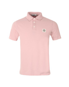 Stone Island Mens Pink Washed Patch Polo Shirt