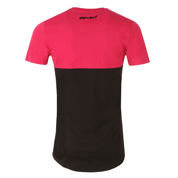 Eleven Degrees Mens Red Curved Cut and Sew T Shirt main image