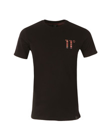 Eleven Degrees Mens Black Sahara Logo Sub Tee