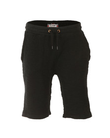 Sik Silk Mens Black Reverse Flannel Gym Shorts