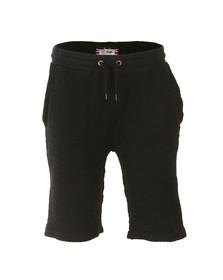 Sik Silk Mens Black Reverse Flannel Gym Shorts