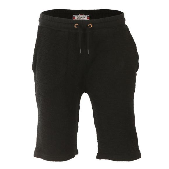 Sik Silk Mens Black Reverse Flannel Gym Shorts main image