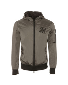 Sik Silk Mens Grey Vapour Bomber