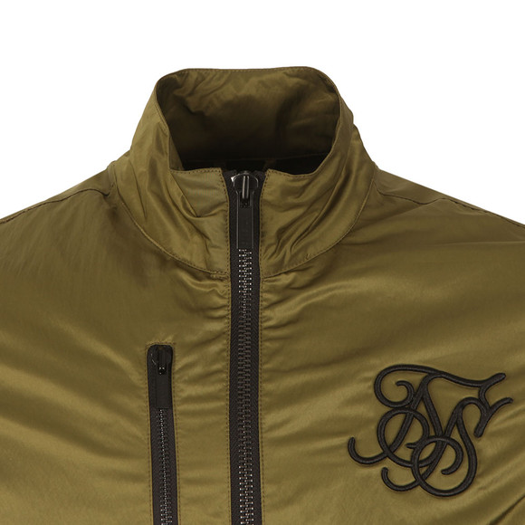 Sik Silk Mens Green Altitude Bomber  main image
