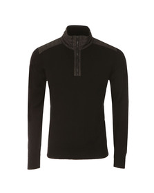 Belstaff Mens Black Kilmington Half  Zip Jumper