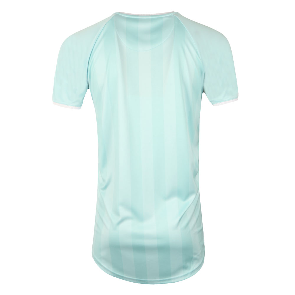 Retro Stripe Curve Hem T Shirt main image