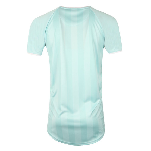 Sik Silk Mens Green Retro Stripe Curve Hem T Shirt main image