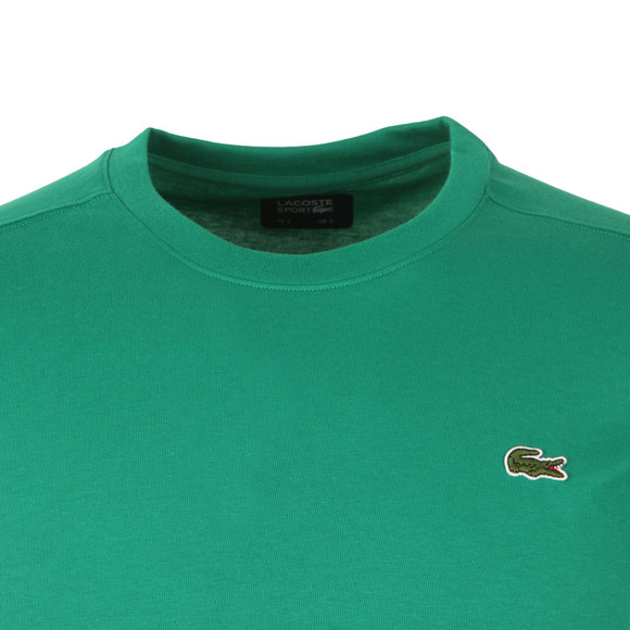Lacoste Sport Mens Green TH7618 Plain T-Shirt main image