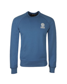 Franklin & Marshall Mens Blue Embroidered Logo Sweat
