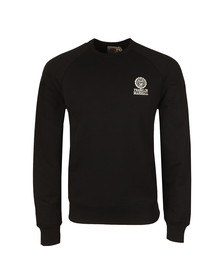 Franklin & Marshall Mens Black Embroidered Logo Sweat