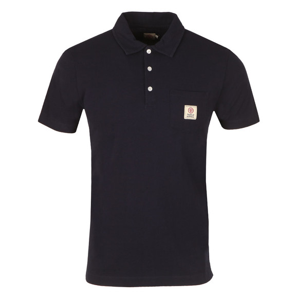 Franklin & Marshall Mens Blue Small Logo Pocket Polo Shirt main image