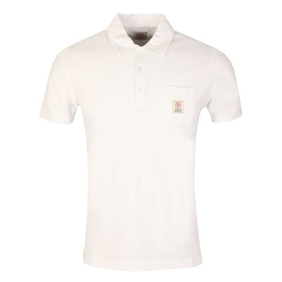 Franklin & Marshall Mens White Small Logo Pocket Polo Shirt main image
