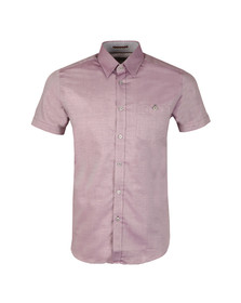 Ted Baker Mens Purple Wooey S/S Textured Shirt