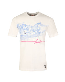 Franklin & Marshall Mens White Surfing Print T Shirt