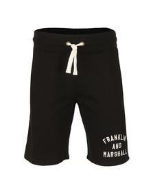 Franklin & Marshall Mens Black Embroidered Logo Sweat Short