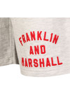 Franklin & Marshall Mens Grey Embroidered Logo Sweat Short