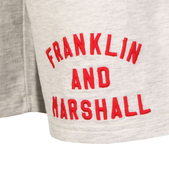 Franklin & Marshall Mens Grey Embroidered Logo Sweat Short main image