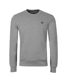 Henri Lloyd Mens Grey Bredgar Crew Sweat