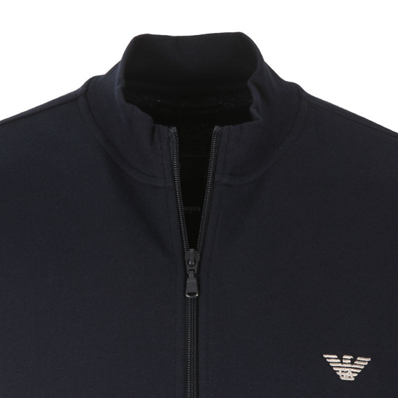 Emporio Armani Mens Blue Full Zip Embroidered Logo Sweat main image