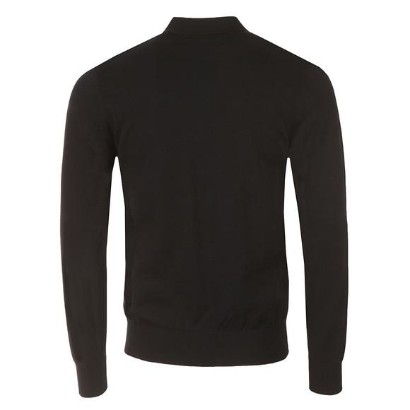Armani Jeans Mens Blue Knitted Long Sleeve Polo Shirt main image