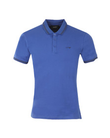 Armani Jeans Mens Blue Twin Tipped Polo Shirt