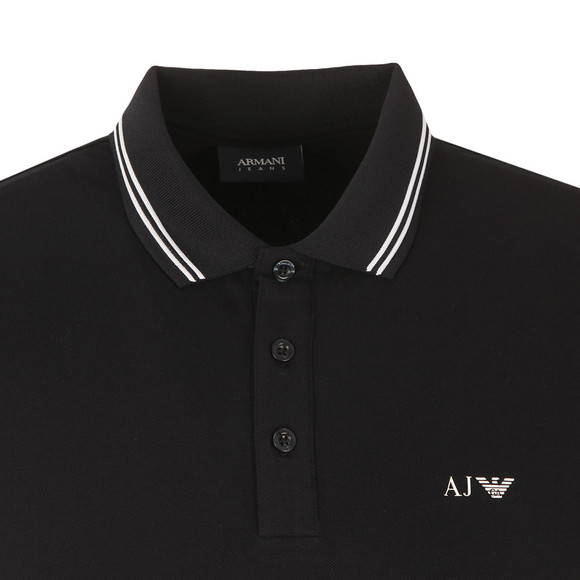 Armani Jeans Mens Blue Twin Tipped Polo Shirt main image