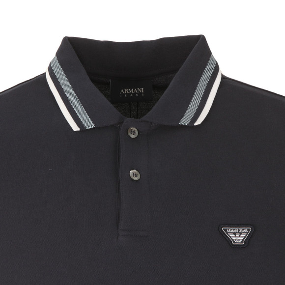 Armani Jeans Mens Blue 3Y6F20 Tipped Polo Shirt main image