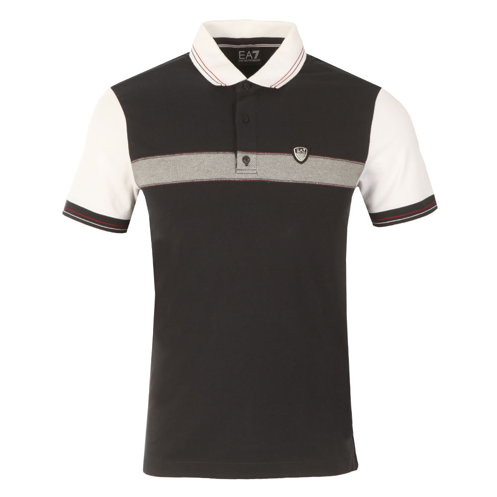 Shield Logo Stripe Polo Shirt main image