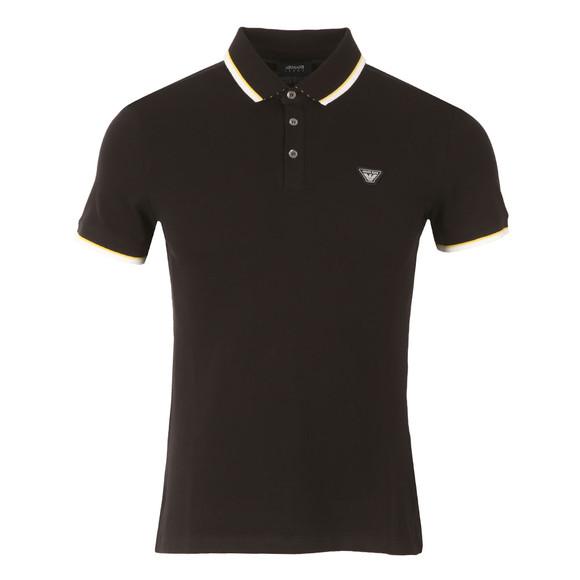 Armani Jeans Mens Black 3Y6F27 Tipped Polo Shirt main image