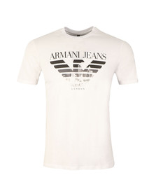 Armani Jeans Mens White London Logo T Shirt