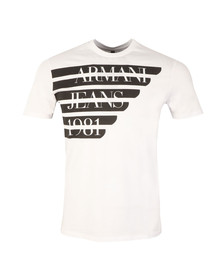 Armani Jeans Mens White Side Logo T Shirt