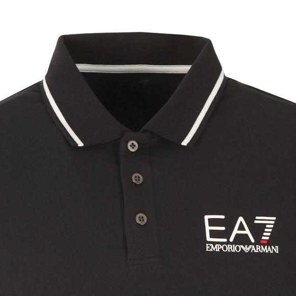 EA7 Emporio Armani Mens Blue Tipped Long Sleeve Polo Shirt main image