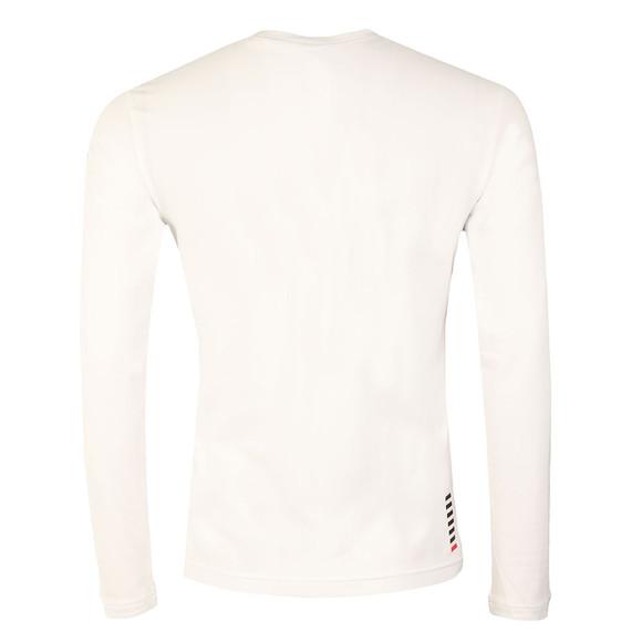 EA7 Emporio Armani Mens White Small Logo Long Sleeve T Shirt main image