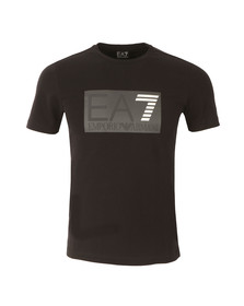 EA7 Emporio Armani Mens Black Embossed Logo T Shirt