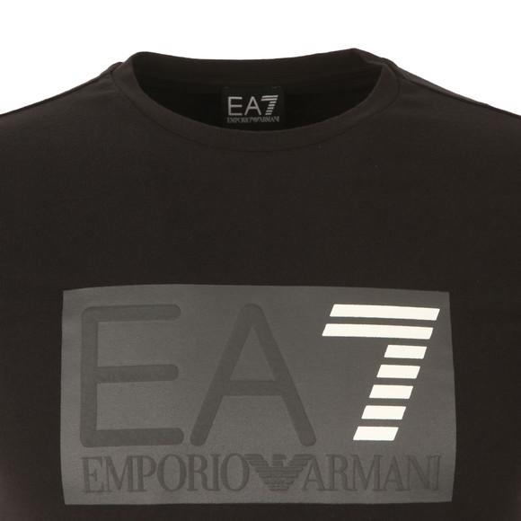 EA7 Emporio Armani Mens Black Embossed Logo T Shirt main image