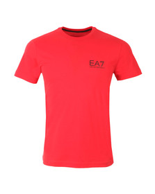 EA7 Emporio Armani Mens Red Small Logo Crew T Shirt