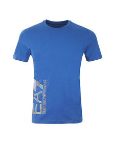 EA7 Emporio Armani Mens Blue Side Logo T Shirt