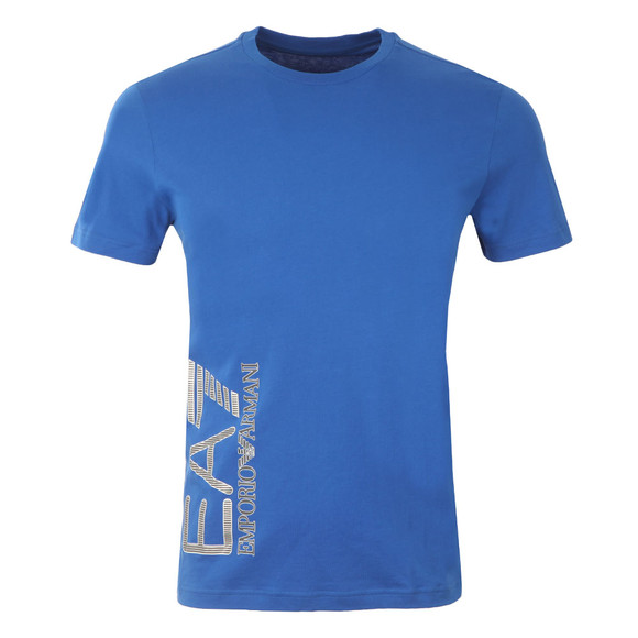 EA7 Emporio Armani Mens Blue Side Logo T Shirt main image