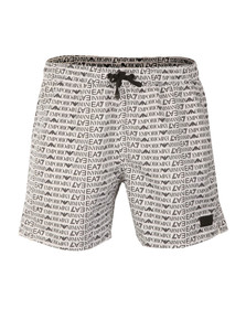 EA7 Emporio Armani Mens White Seaworld Allover Swim Short