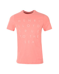 Henri Lloyd Mens Pink S/S Keadby Tee