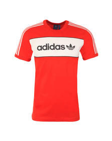 Adidas Originals Mens Red S/S Block Tee