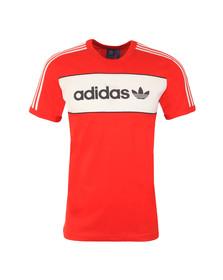 Adidas Originals Mens Red S/S Block Tee