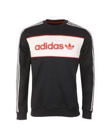 Adidas Originals Mens Blue Block Crew Sweat