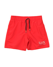 EA7 Emporio Armani Boys Red Logo Swim Short