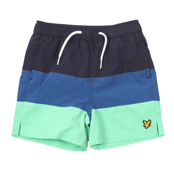 Lyle And Scott Junior Boys Green Cut & Sew Swim Shorts main image