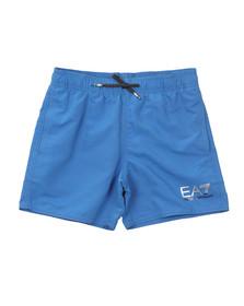 EA7 Emporio Armani Boys Blue Logo Swim Short