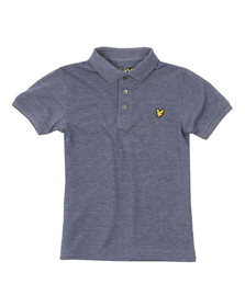 Lyle And Scott Junior Boys Blue Classic Marl Polo Shirt