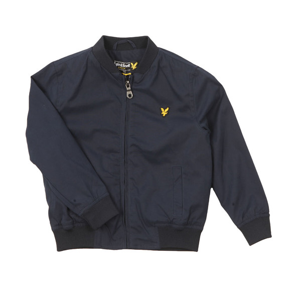 Lyle And Scott Junior Boys Blue Bomber Jacket main image