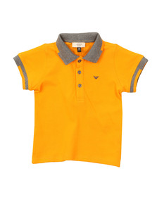 Armani Baby Boys Orange 3YHF01 Tipped Polo Shirt