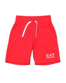 EA7 Emporio Armani Boys Red Jersey Short